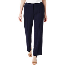 Buy Precis Petite Wide-Leg Trousers, Navy Online at johnlewis.com