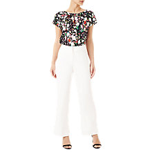 Buy Precis Petite Wide Leg Trousers, White Online at johnlewis.com