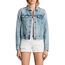 Buy AllSaints Hay Denim Jacket, Mid Indigo Blue Online at johnlewis.com