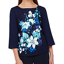 Buy Jacques Vert Hampton Floral Layer Top, Navy/Multi Online at johnlewis.com