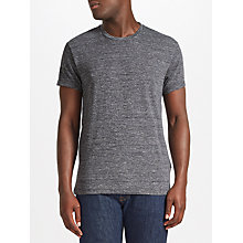Buy Samsoe & Samsoe Graham Stripe O-Neck T-Shirt, Black Online at johnlewis.com