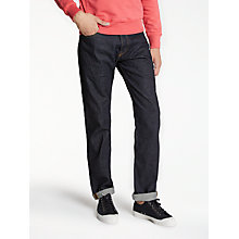 Buy Hawksmill Denim Co Organic Cotton Loose Tapered Jeans, Soak Indigo Online at johnlewis.com
