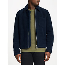Buy Samsoe & Samsoe Madmax Fleece Jacket, Dark Sapphire Online at johnlewis.com