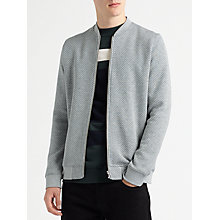 Buy Samsoe & Samsoe Hermits Zip Jersey Top, Grey Melange Online at johnlewis.com