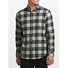 Buy Samsoe & Samsoe Liam NX Check Shirt, Green Gables Online at johnlewis.com