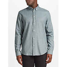 Buy Samsoe & Samsoe Liam BX Long Sleeve Shirt, Green Gables White Online at johnlewis.com