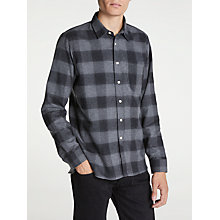 Buy Hawksmill Denim Co Shadow Check Shirt, Grey Online at johnlewis.com