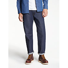 Buy Levi's Made & Crafted Rail Straight Non-Stretch Selvedge Jeans, Dark Online at johnlewis.com