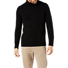 Buy Dockers Textured Knit Turtle Neck Jumper, Black Online at johnlewis.com