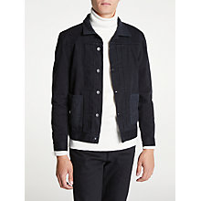 Buy Levi's Made & Crafted Worn Trucker Jacket, Crux Black Online at johnlewis.com