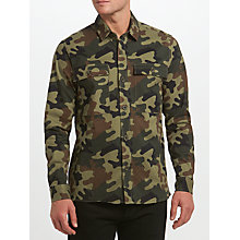 Buy Samsoe & Samsoe Waltones Overshirt, Camo Online at johnlewis.com