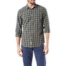 Buy Dockers Laundered Long Sleeve Poplin Shirt, Deep Lichen Green Online at johnlewis.com