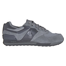 Buy Polo Ralph Lauren Slaton Lace-Up Trainers, Grey Online at johnlewis.com