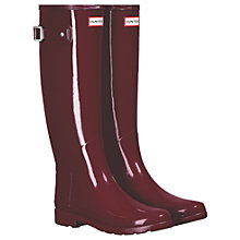 Buy Hunter Original Refined Tall Wellington Boots, Scarlett Gloss Online at johnlewis.com