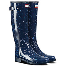 Buy Hunter Original Refined Tall Constellation Print Wellington Boots, Midnight Online at johnlewis.com