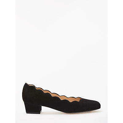 John Lewis Aiyana Scalloped Block Heeled Court Shoes