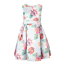 Buy John Lewis Heirloom Collection Girls' Large Floral Print Dress, Grey Online at johnlewis.com
