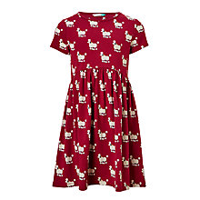 Buy John Lewis Girls' Poodle Print Jersey Dress, Plum Online at johnlewis.com