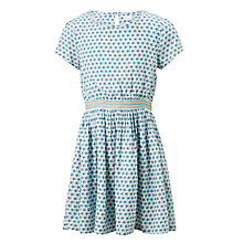 Buy John Lewis Girls' Ditsy Print Dress, Blue Online at johnlewis.com