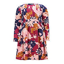 Buy John Lewis Girls' Printed Woven Dress, Pink/Multi Online at johnlewis.com