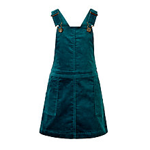 Buy John Lewis Girls' Corduroy Pinafore Dress, Green Online at johnlewis.com