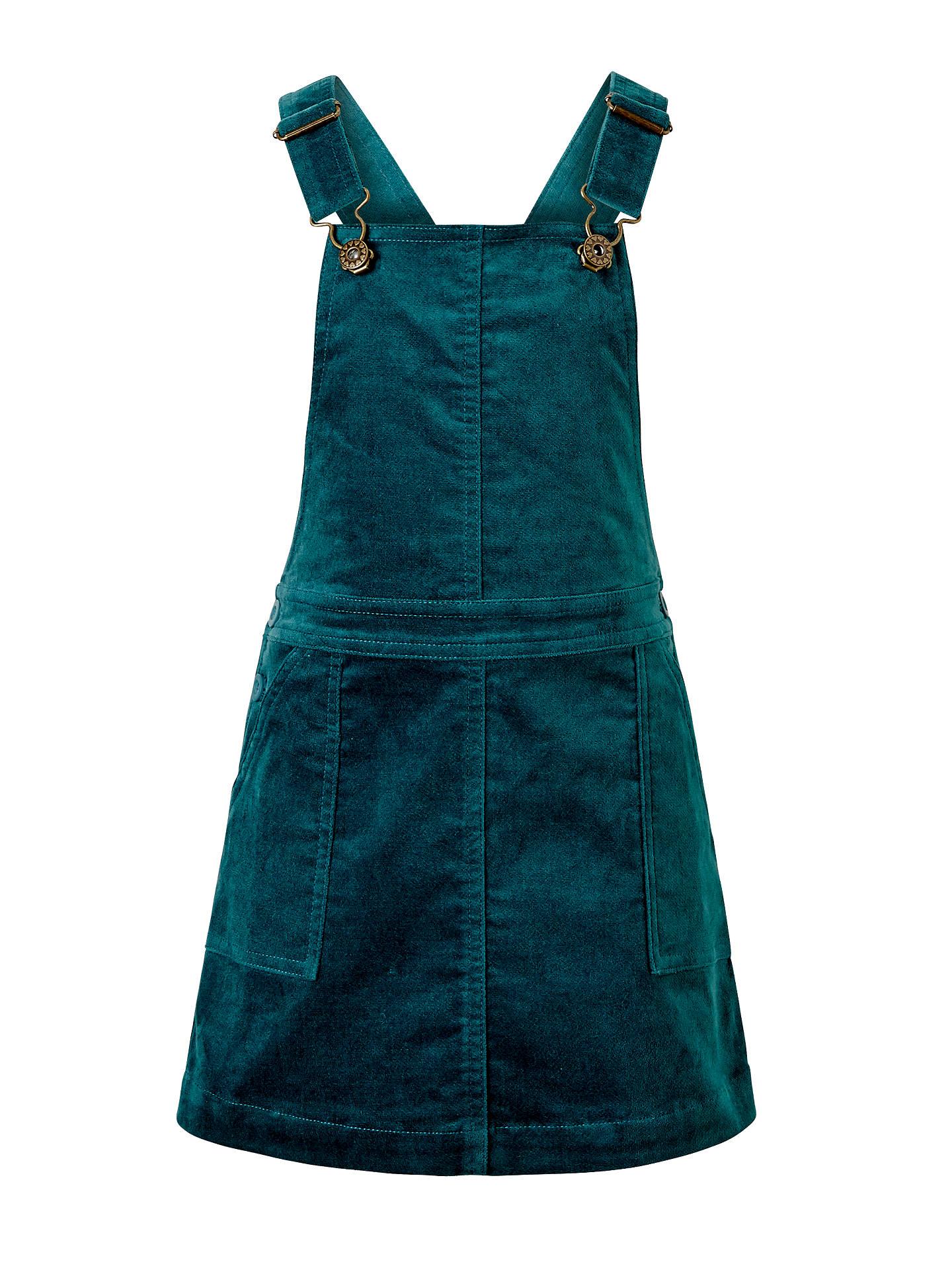 f57f81c82 Buy John Lewis Girls' Corduroy Pinafore Dress, Green, 2 years Online at  johnlewis ...