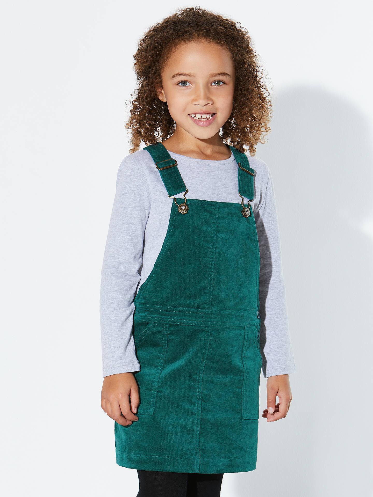 237ad7e00 ... Buy John Lewis Girls' Corduroy Pinafore Dress, Green, 2 years Online at  johnlewis ...