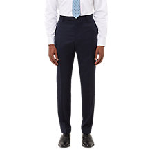 Buy Jaeger Plain Twill Slim Fit Trousers, Navy Online at johnlewis.com