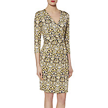 Buy Gina Bacconi Abstract Print Jersey Dress, Lemon Online at johnlewis.com