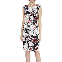Buy Gina Bacconi Floral Print Sleeveless Jersey Dress, Coral Online at johnlewis.com