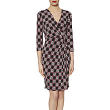Buy Gina Bacconi Graphic Print Jersey Dress, Pink/Black Online at johnlewis.com