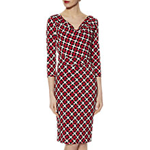 Buy Gina Bacconi Check Spot Print Jersey Dress, Red Online at johnlewis.com