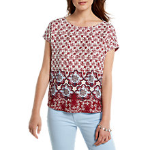 Buy White Stuff Hennie Floral Jersey T-Shirt, Red Online at johnlewis.com