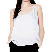 Buy Ghost Willa Satin Camisole Top, Pearl Grey Online at johnlewis.com