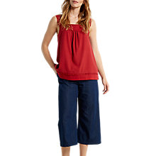 Buy White Stuff Fraya Jersey Vest, Red Online at johnlewis.com
