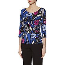 Buy Gina Bacconi Abstract Floral Print Jersey Top Online at johnlewis.com