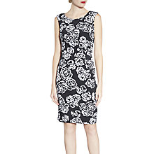 Buy Gina Bacconi Floral Print Sleeveless Jersey Dress, Pink Online at johnlewis.com