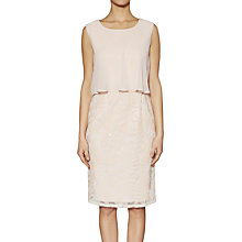 Buy Gina Bacconi Sequin Mesh Dress With Cape, Nude Online at johnlewis.com