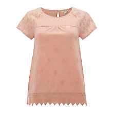 Buy White Stuff Isla Lace Jersey T-Shirt Online at johnlewis.com