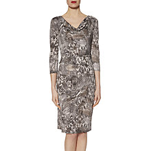 Buy Gina Bacconi Snake Print Jersey Dress, Black/Grey Online at johnlewis.com