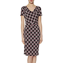 Buy Gina Bacconi Geometric Print Jersey Dress, Pink Online at johnlewis.com