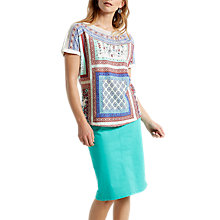 Buy White Stuff Leah Placement Jersey T-shirt, Multi Online at johnlewis.com