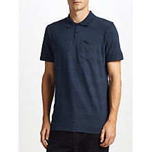 Buy Kin by John Lewis Texture Stripe Polo Shirt, Navy Online at johnlewis.com