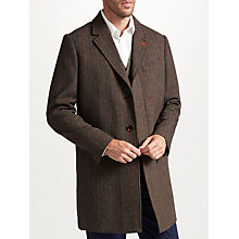 Buy John Lewis Smarter Herringbone Overcoat, Multi Online at johnlewis.com