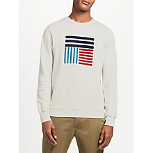 Buy Kin by John Lewis Block Graphic Print Sweatshirt, Off White Online at johnlewis.com