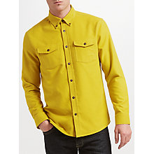 Buy JOHN LEWIS & Co. Soktas Brushed Cotton Shirt, Yellow Online at johnlewis.com