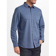 Buy John Lewis James Fine Check Shirt, Navy Online at johnlewis.com