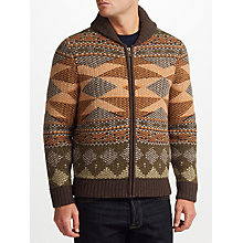 Buy JOHN LEWIS & Co. Aztec Knit Full Zip Cardigan, Multi Online at johnlewis.com