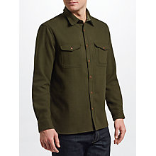 Buy JOHN LEWIS & Co. Wool Blend Overshirt, Green Online at johnlewis.com