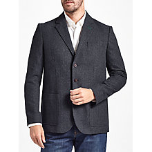 Buy John Lewis Puppytooth Blazer, Navy Online at johnlewis.com